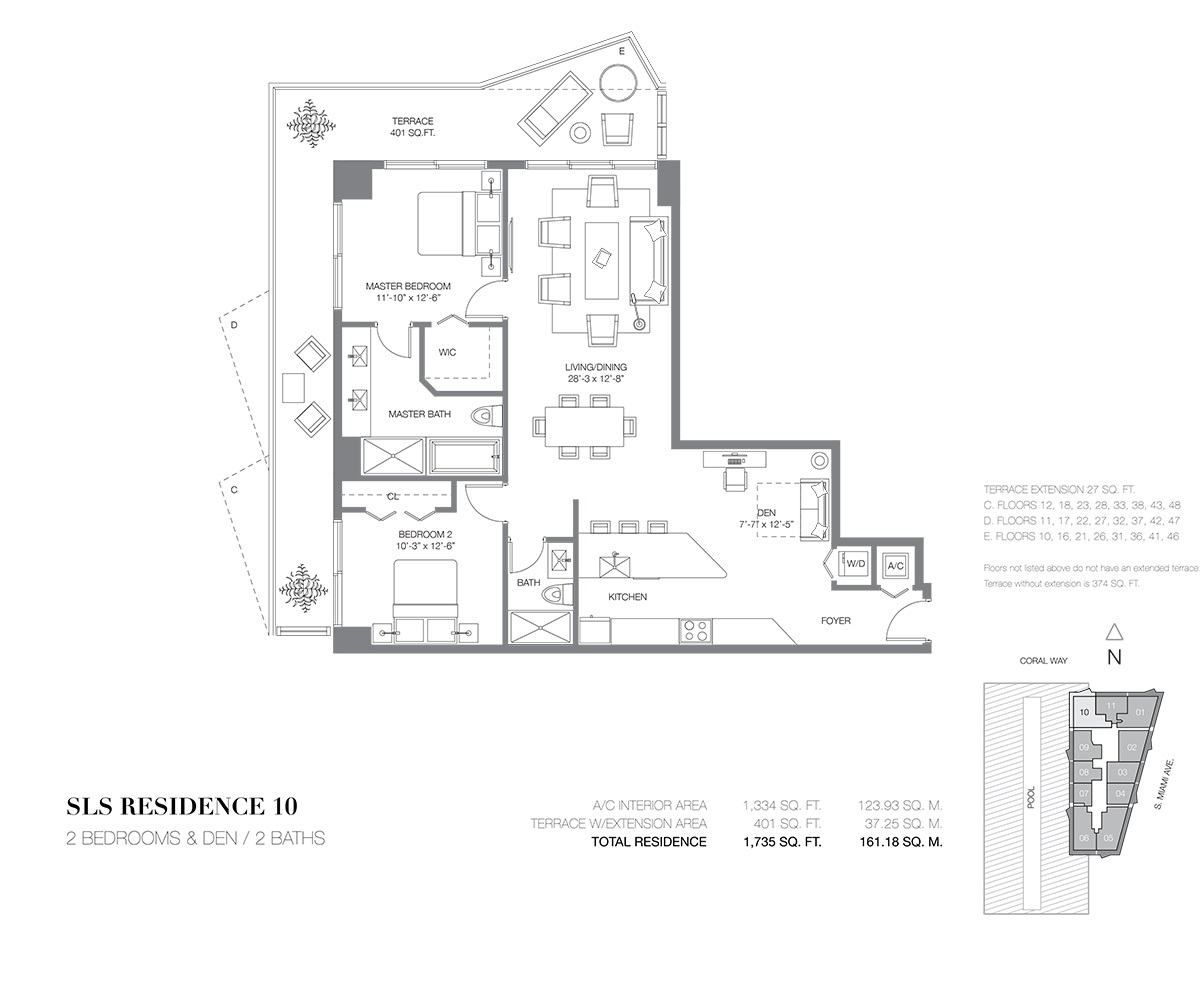 SLS Brickell - Floorplan 7