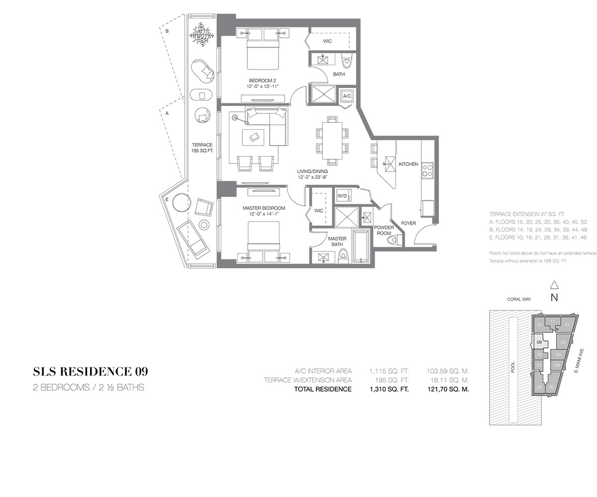 SLS Brickell - Floorplan 8
