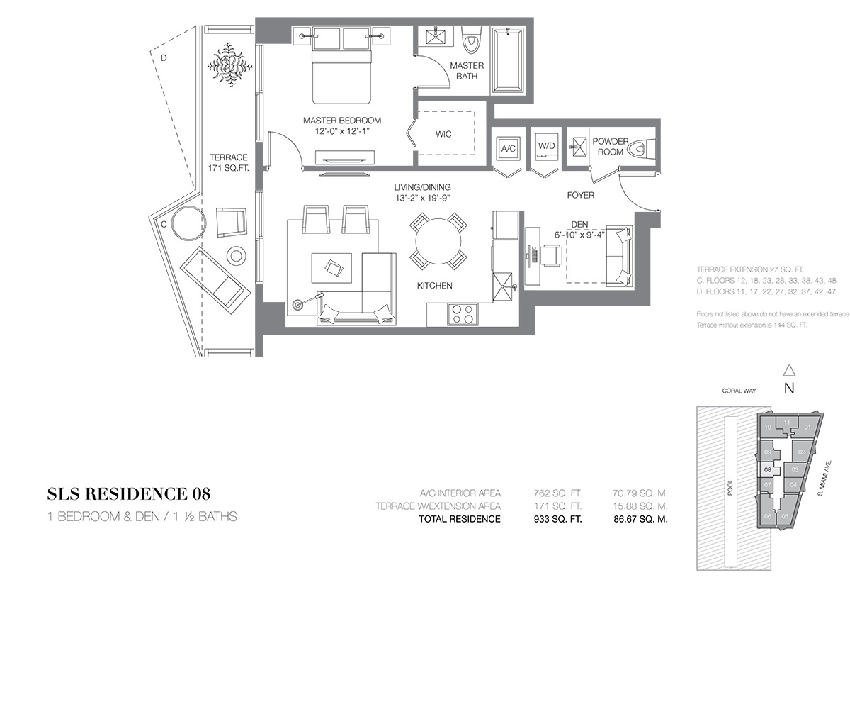 SLS Brickell - Floorplan 10