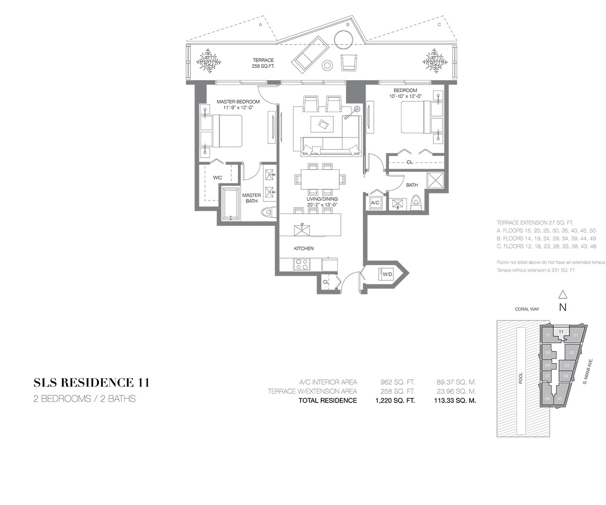 SLS Brickell - Floorplan 11