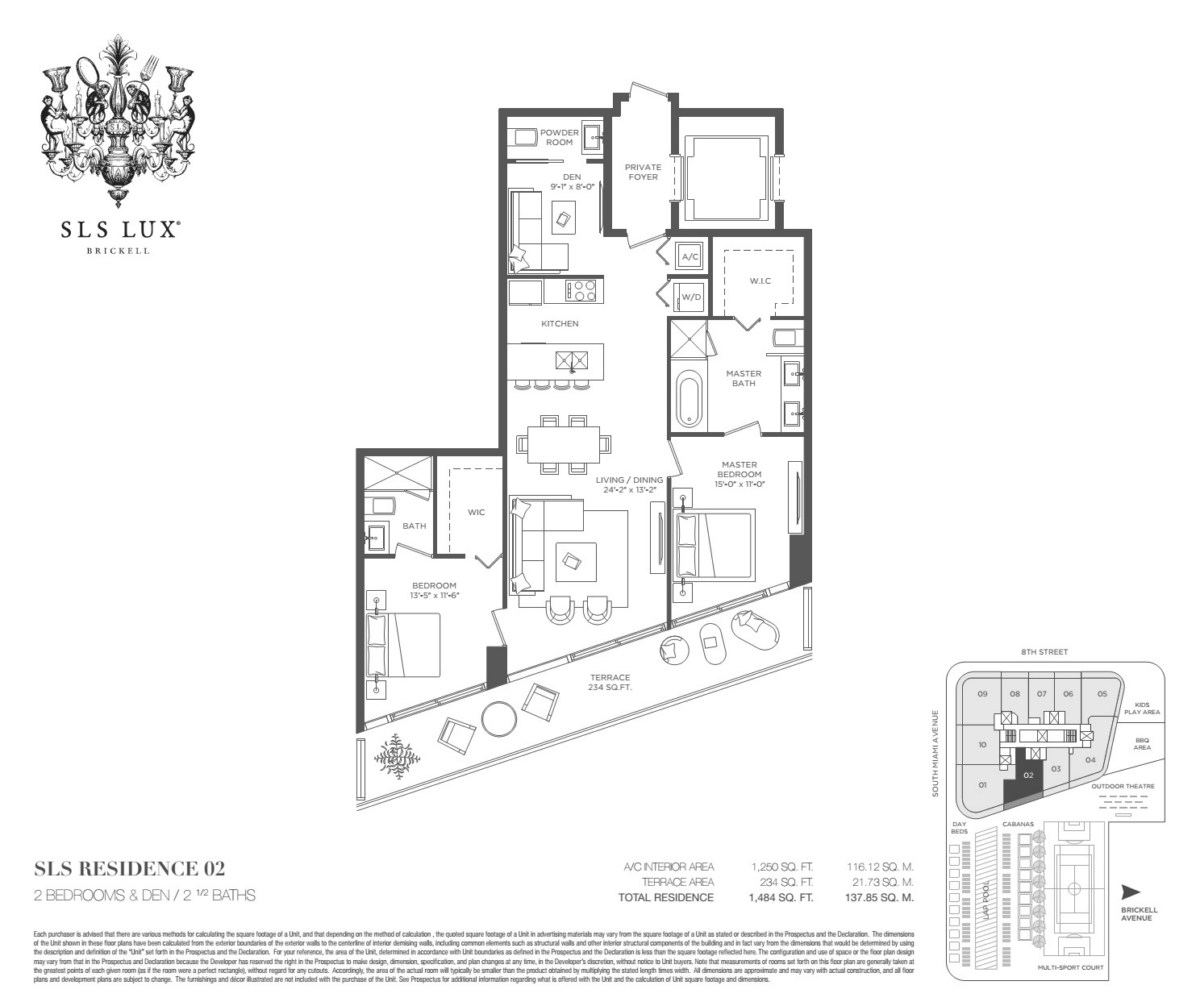 SLS Lux - Floorplan 1