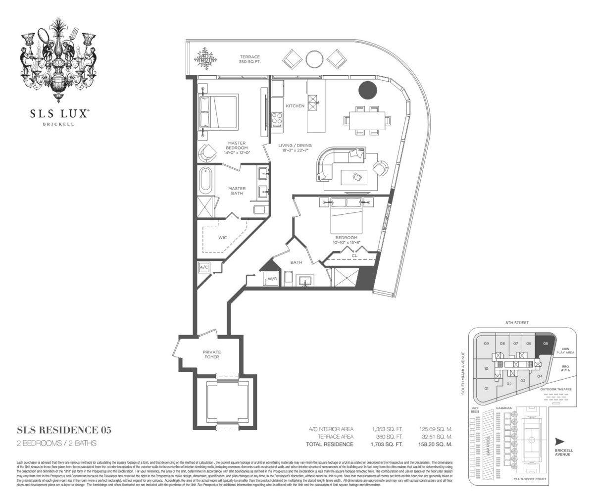 SLS Lux - Floorplan 3