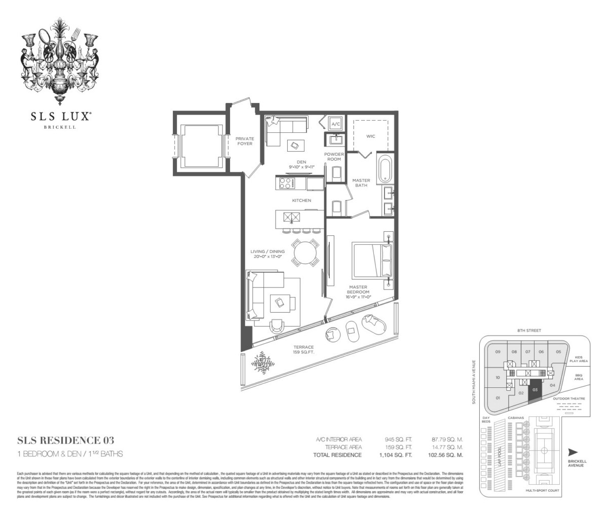 SLS Lux - Floorplan 4