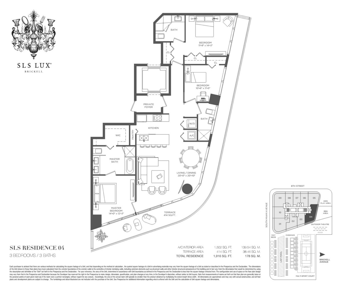 SLS Lux - Floorplan 6