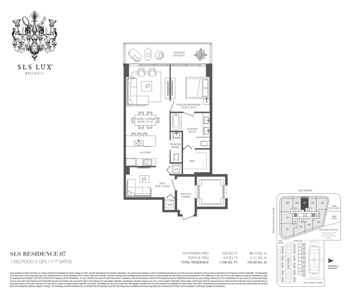 SLS Lux - Floorplan 7