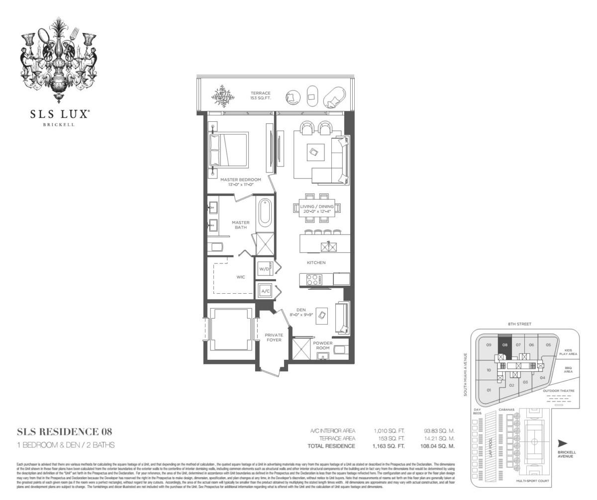 SLS Lux - Floorplan 8