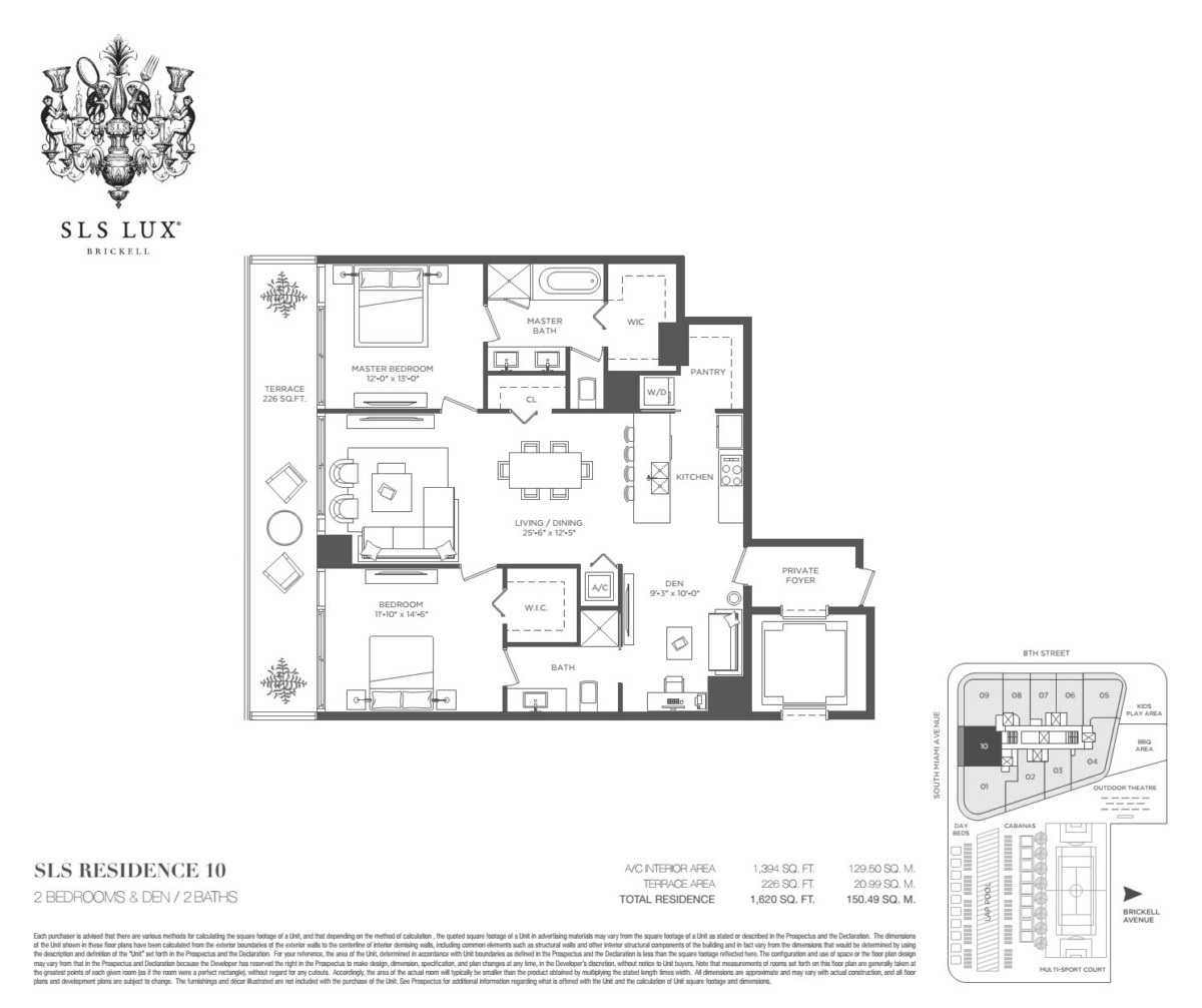 SLS Lux - Floorplan 9