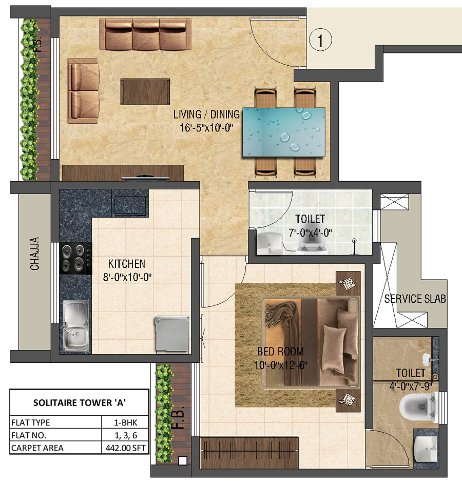 Solitair - Floorplan 1