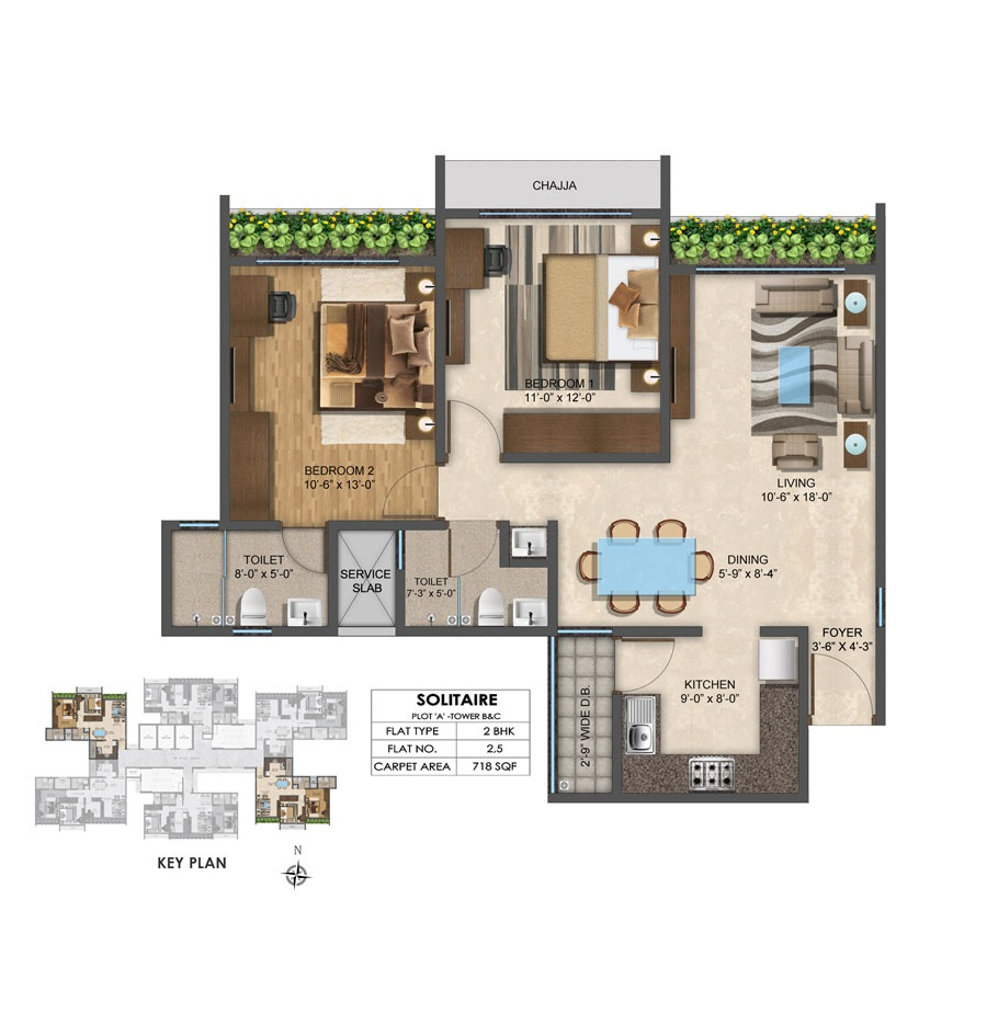 Solitair - Floorplan 2