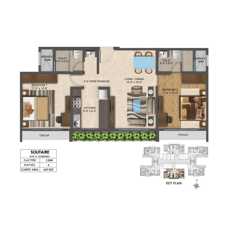 Solitair - Floorplan 3