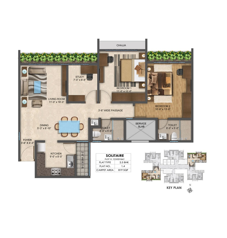 Solitair - Floorplan 4