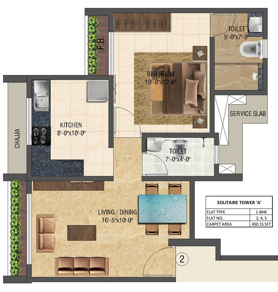 Solitair - Floorplan 5