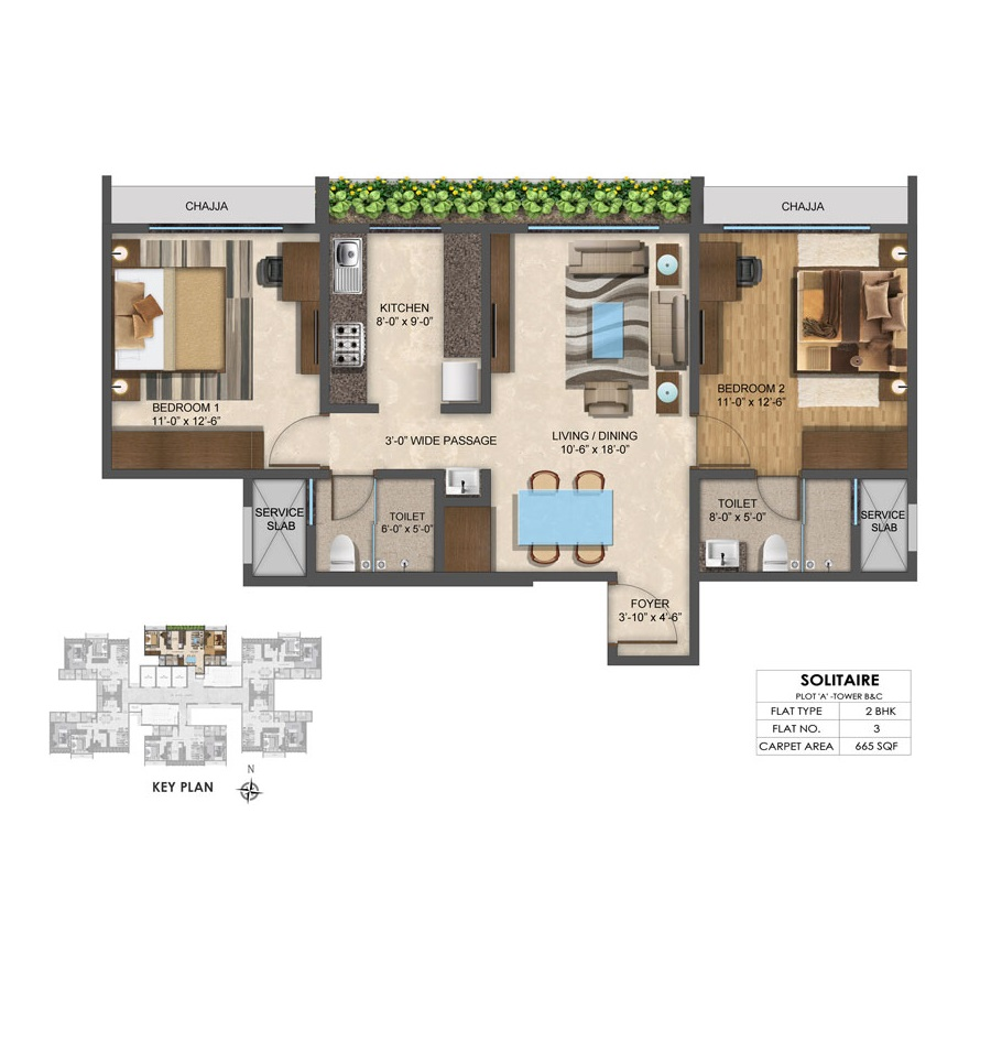 Solitair - Floorplan 6