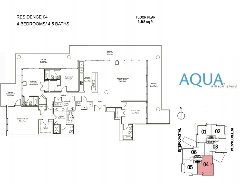 Spear At Aqua - Floorplan 1