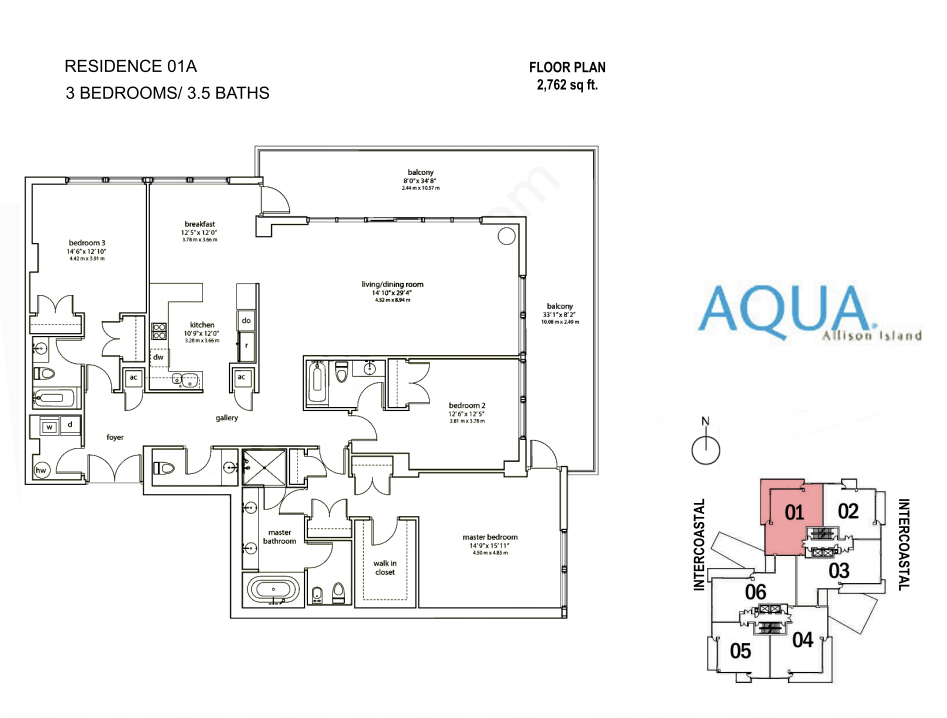 Spear At Aqua - Floorplan 3