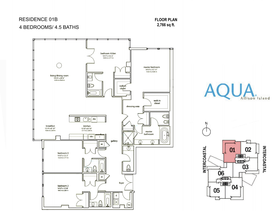 Spear At Aqua - Floorplan 4