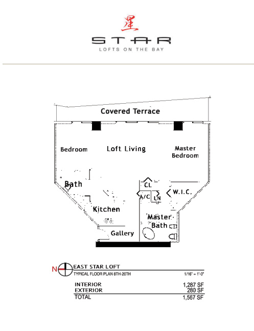 Star Lofts On The Bay - Floorplan 2