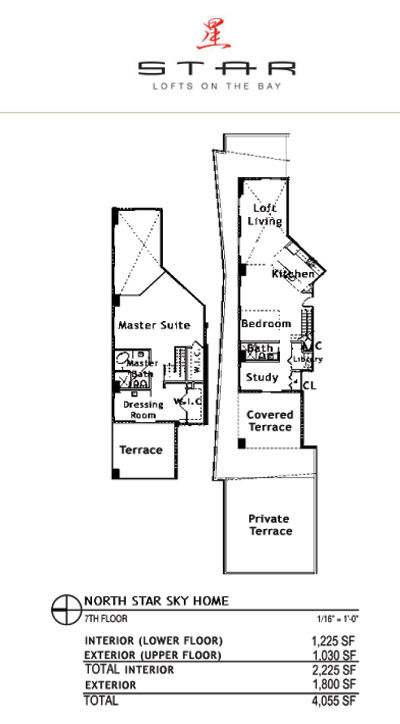Star Lofts On The Bay - Floorplan 3