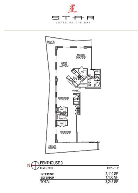 Star Lofts On The Bay - Floorplan 4