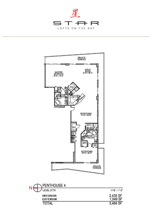 Star Lofts On The Bay - Floorplan 5