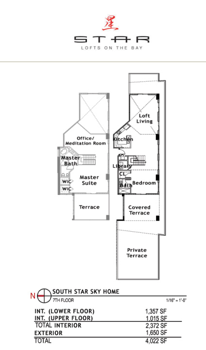 Star Lofts On The Bay - Floorplan 6