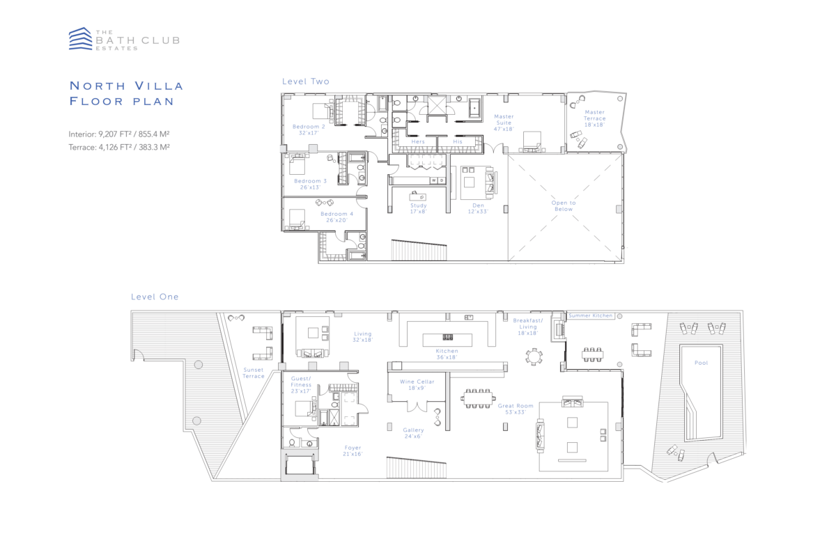 The Bath Club Estates - Floorplan 1