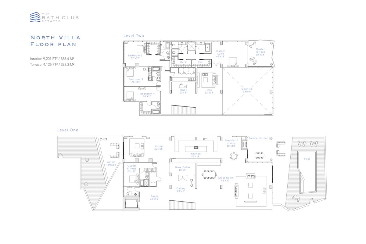 The Bath Club Estates - Floorplan 1