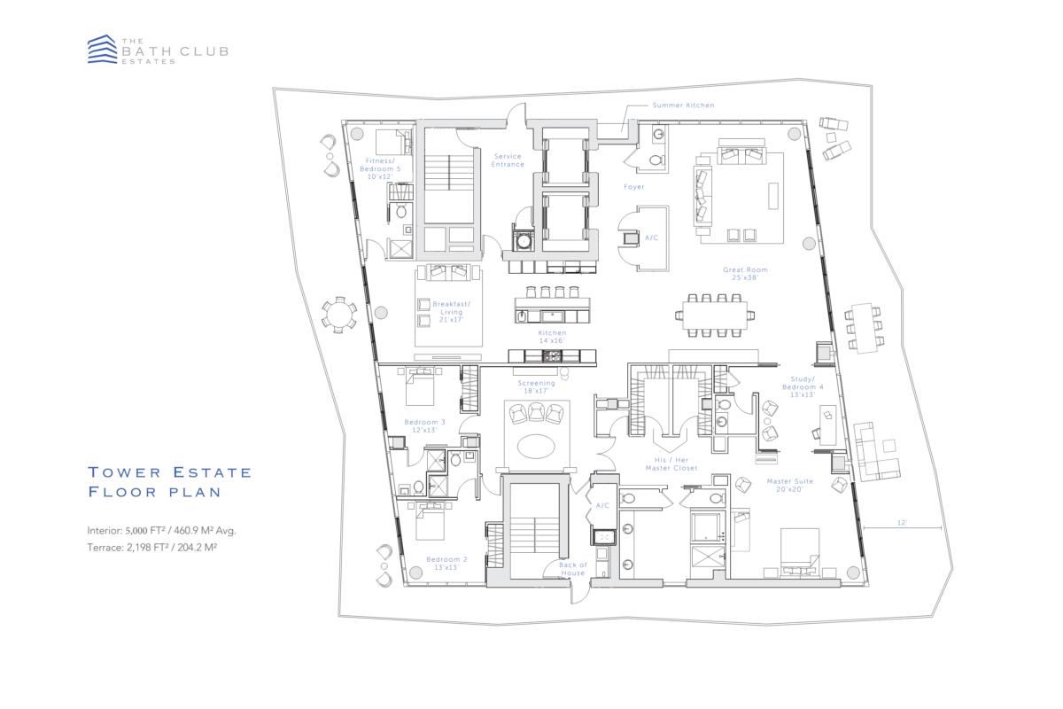 The Bath Club Estates - Floorplan 2