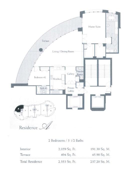 The Bath Club - Floorplan 1
