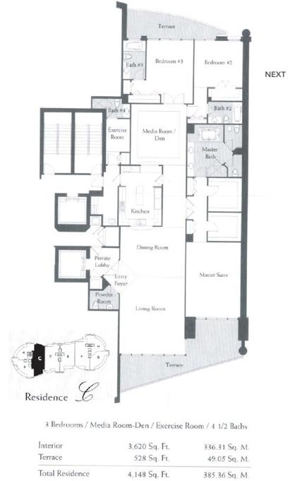 The Bath Club - Floorplan 4