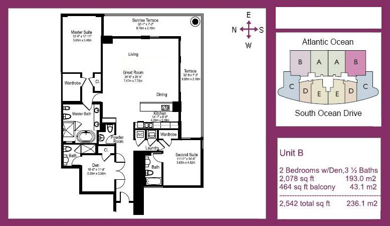Beach Club Tower I - Floorplan 1