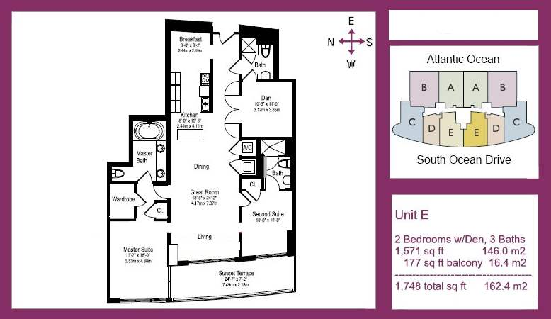 The Beach Club Tower I - Floorplan 3