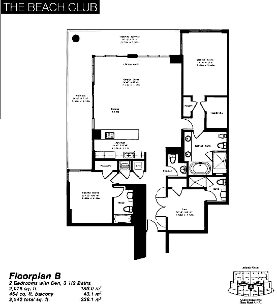 The Beach Club Tower II - Floorplan 1