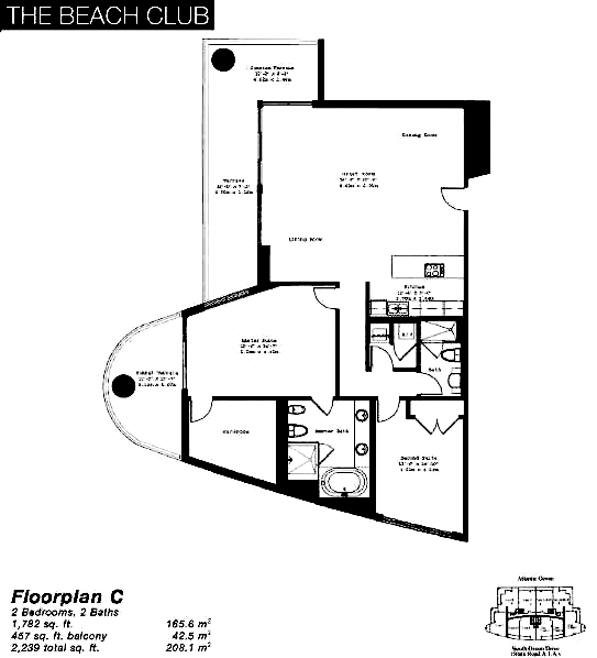 The Beach Club Tower II - Floorplan 3