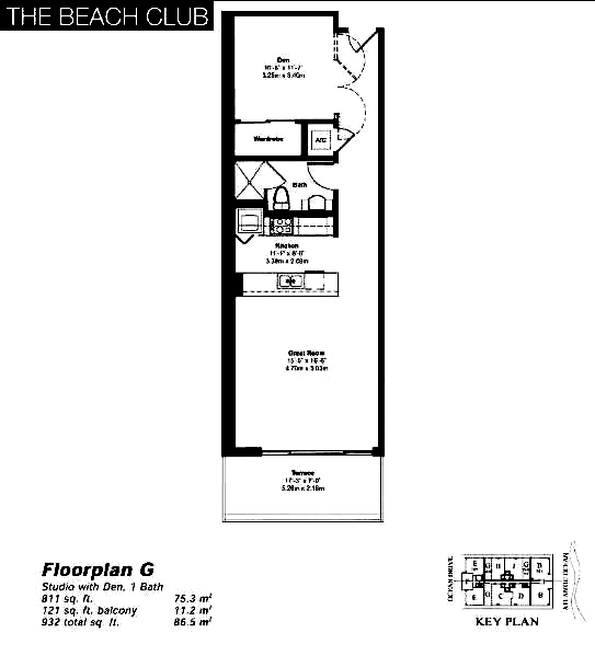 The Beach Club Tower II - Floorplan 9