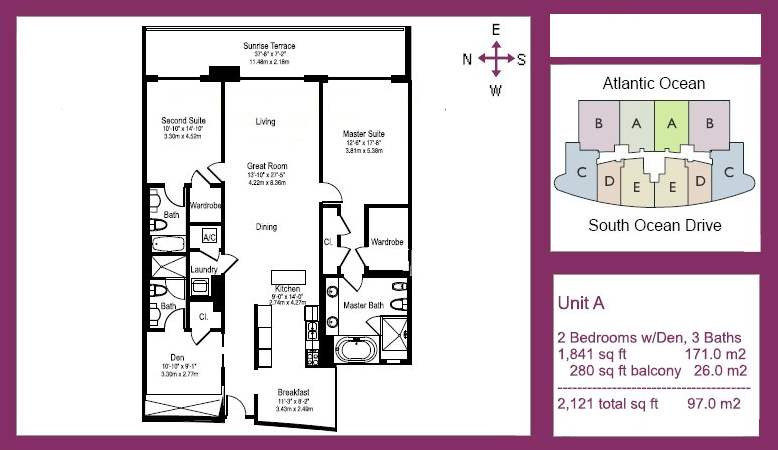 The Beach Club Tower III - Floorplan 1