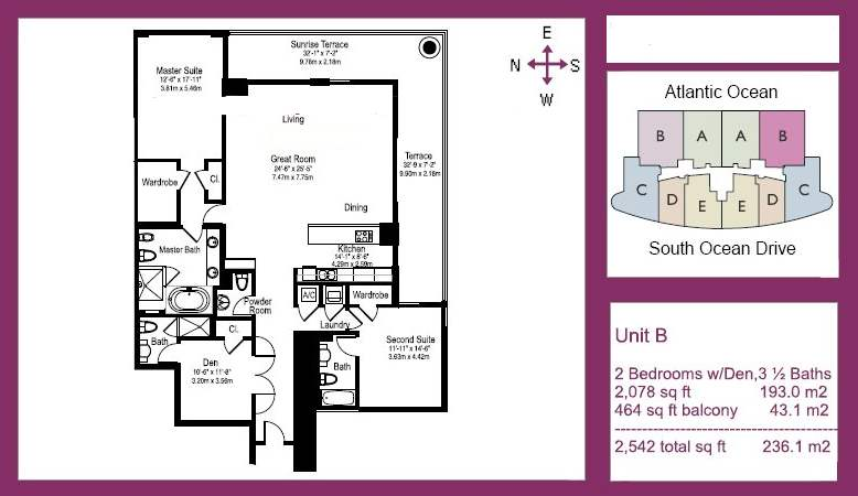 The Beach Club Tower III - Floorplan 2