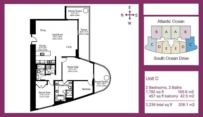 The Beach Club Tower III - Floorplan 4