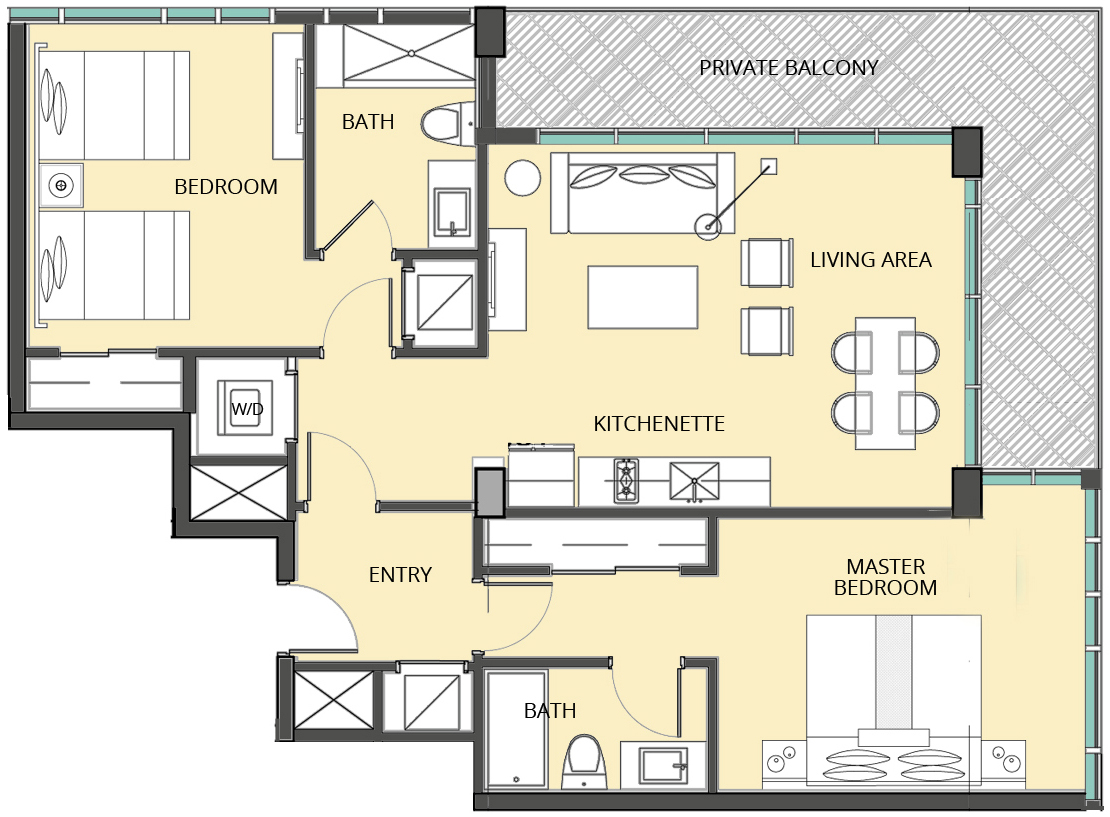 The Bentley Residences Hotel - Floorplan 2