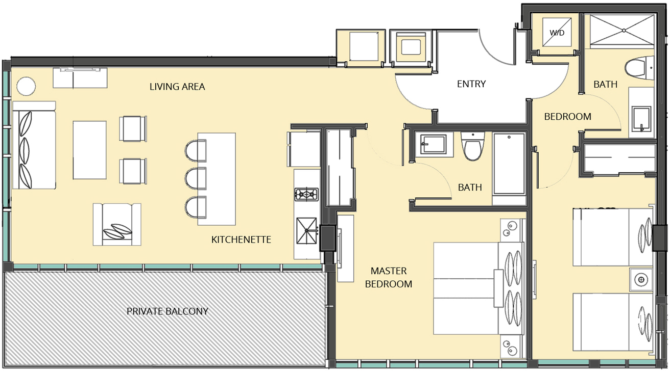 The Bentley Residences Hotel - Floorplan 9