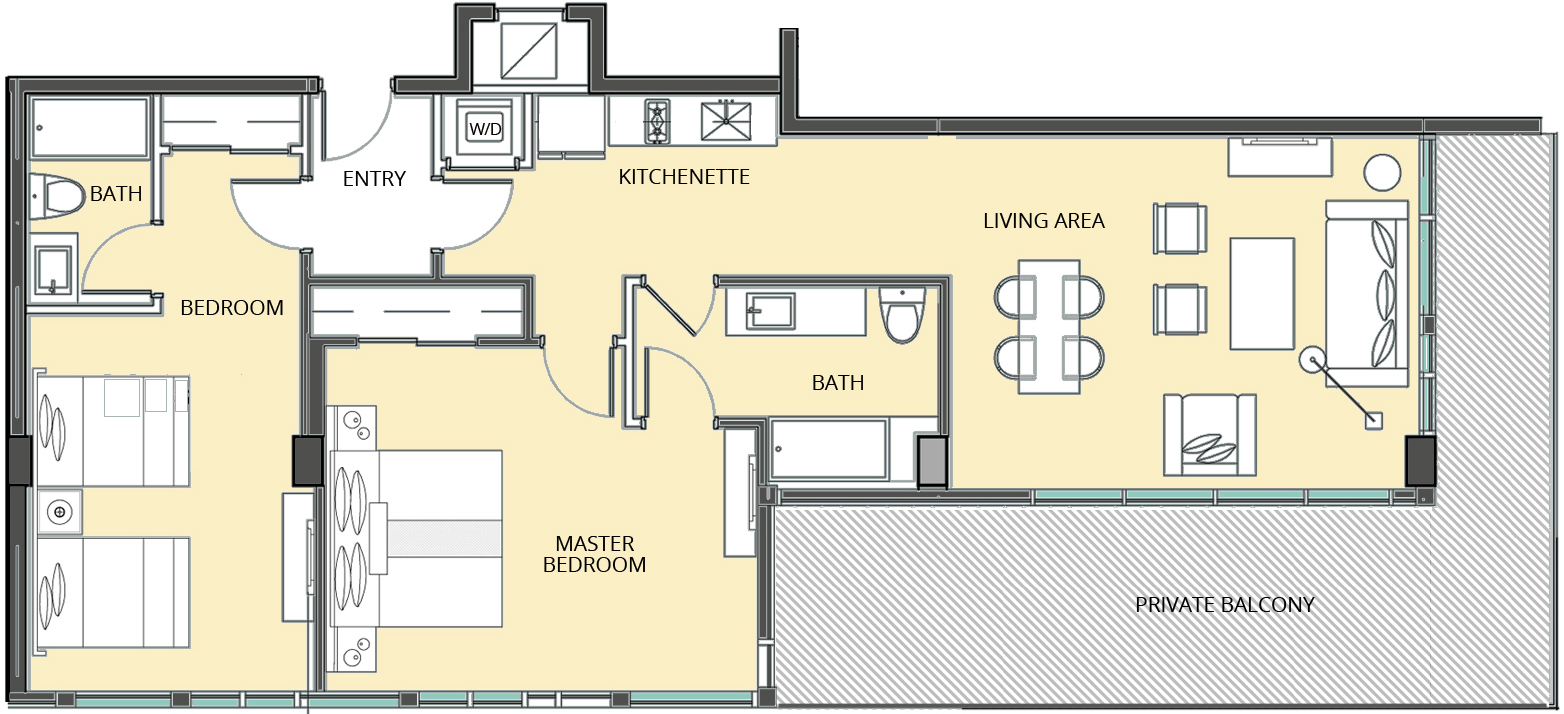 The Bentley Residences Hotel - Floorplan 1