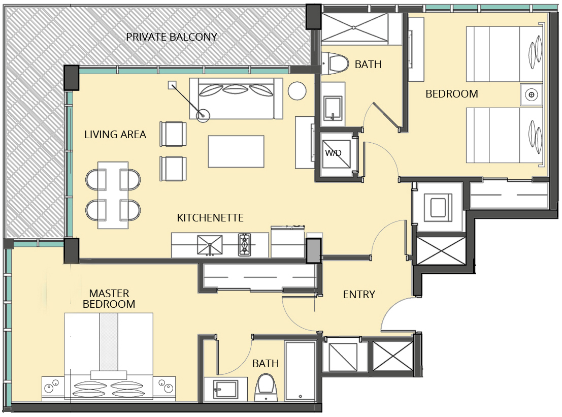 The Bentley Residences Hotel - Floorplan 8