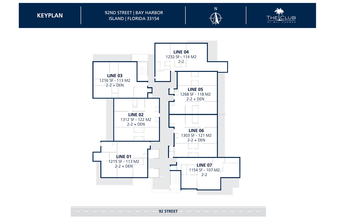 The Club Condo at Bay Harbor - Floorplan 1