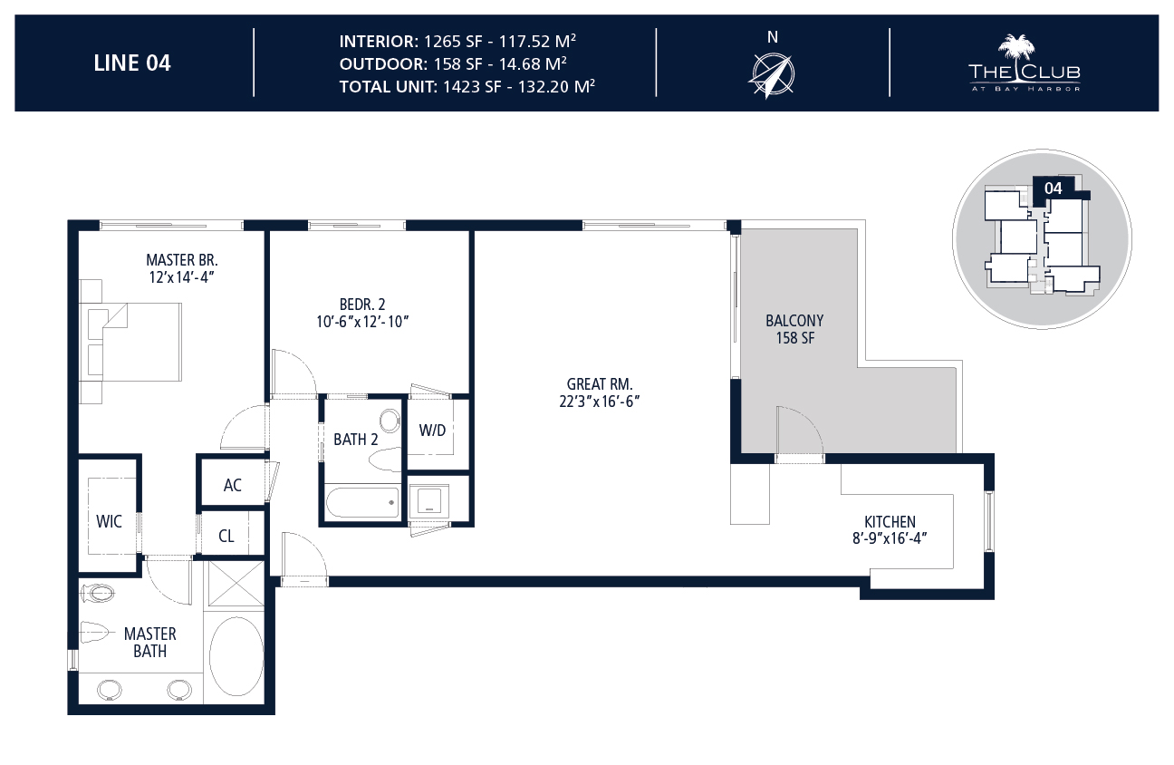 The Club Condo at Bay Harbor - Floorplan 5