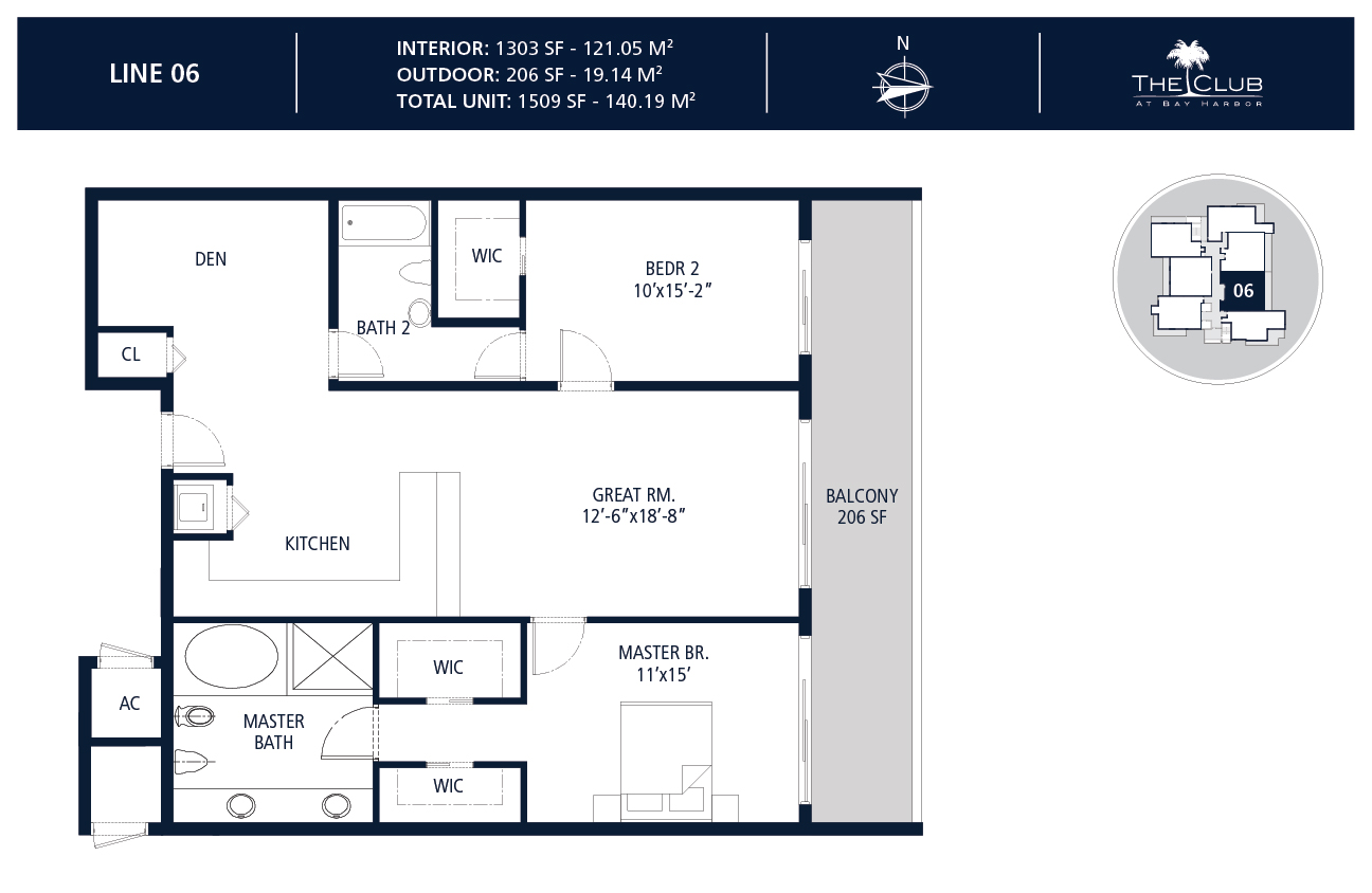 The Club Condo at Bay Harbor - Floorplan 7
