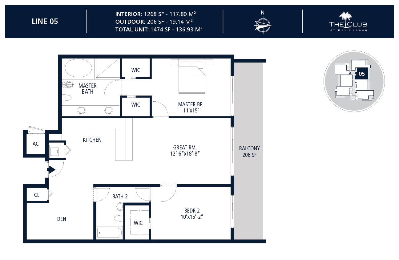 The Club Condo at Bay Harbor - Floorplan 6