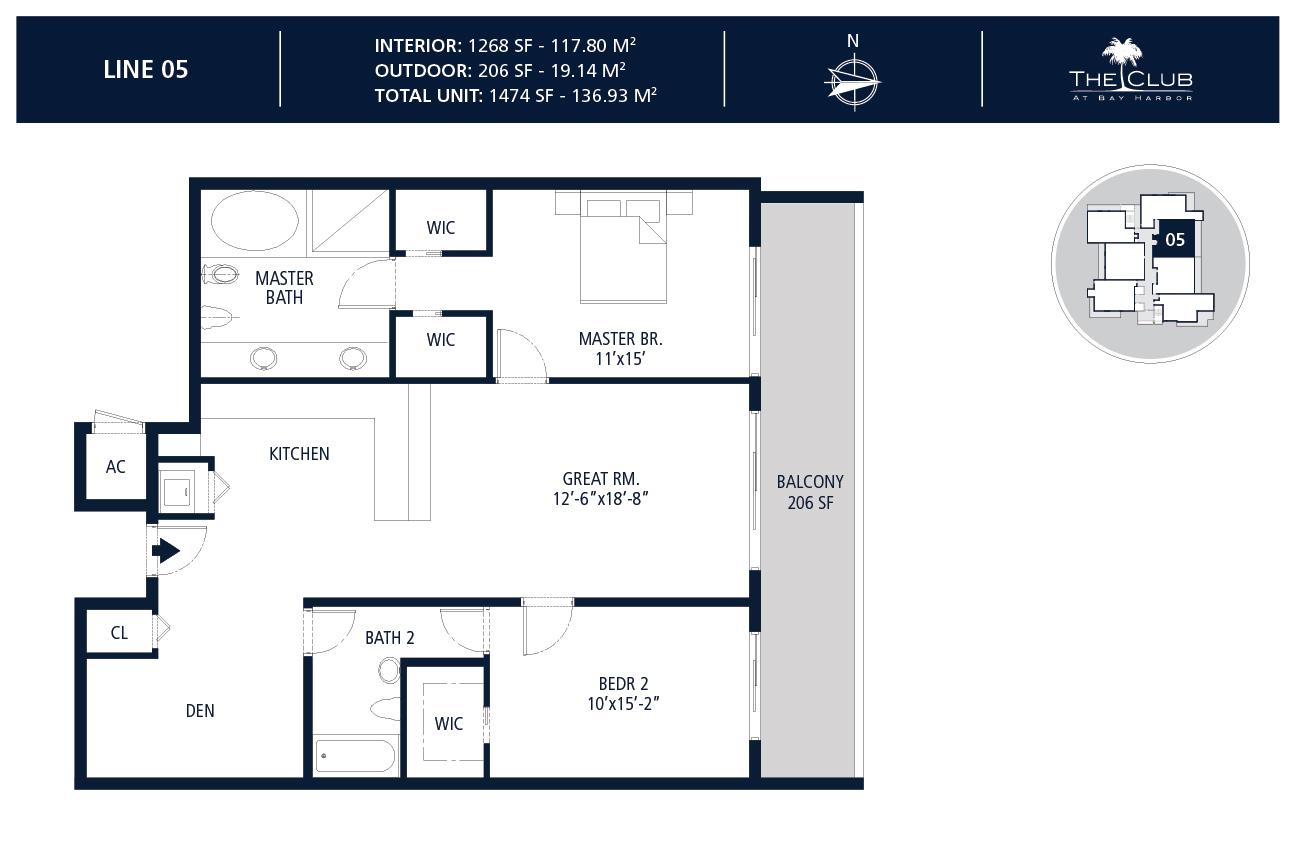 The Club Condo at Bay Harbor - Floorplan 6