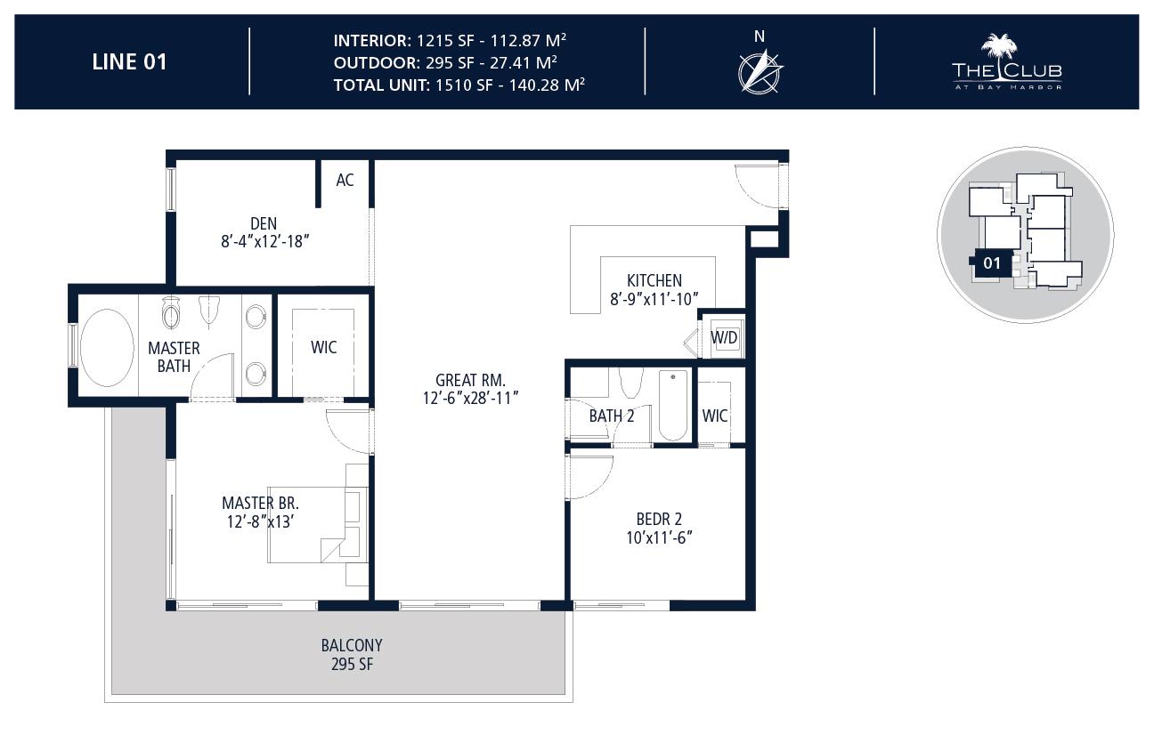 The Club Condo at Bay Harbor - Floorplan 2