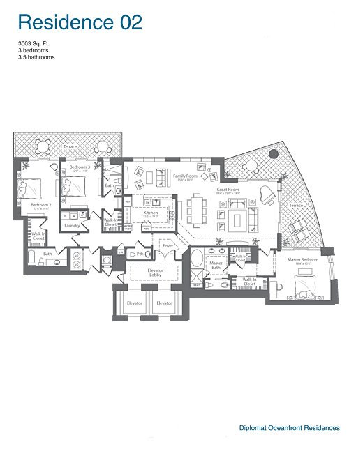 The Diplomat Residences - Floorplan 2