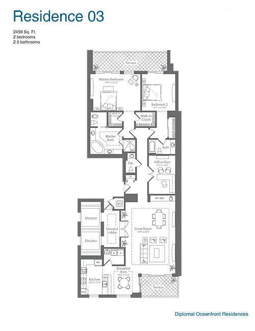 The Diplomat Residences - Floorplan 3